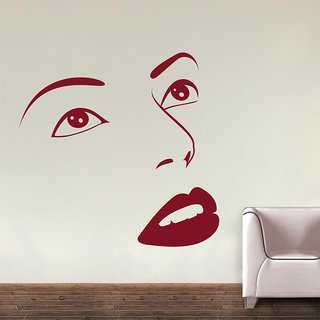Decor Kafe Face Wall Decal 30x30 Inch available at ShopClues for Rs.399