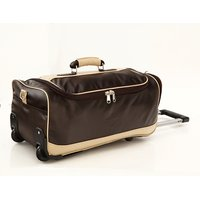 MBOSS Faux Leather Duffel Trolley Bag - STB007