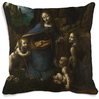 meSleep Lady And Children 3D Cushion Cover (16x16)