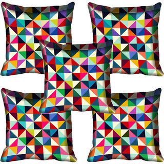 meSleep Geometric Digitally Printed Cushion Cover (16x16)