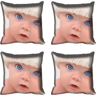 meSleep Kid Face Digitally Printed Cushion Cover (16x16)