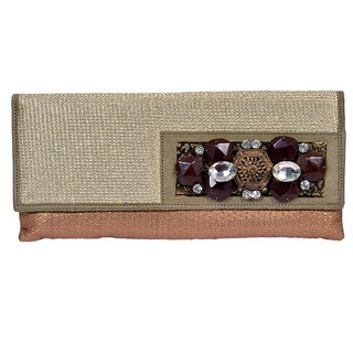 Designer Clutch Purse with Stone work