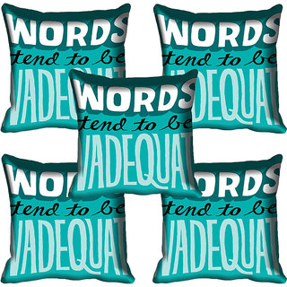 meSleep Quotes Digitally Printed Cushion Cover (16x16)