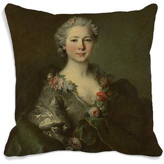 meSleep Lady Portrait 3D Cushion Cover (16x16)