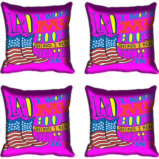 meSleep Quotes Digitally Printed Cushion Cover (16x16)
