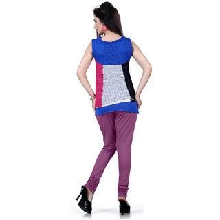 DesiButiks Light Purple Coloured Cotton Lycra Leggings BBL1013