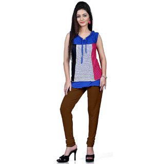 DesiButiks Mehndi Green Coloured Cotton Lycra Leggings BBL1016
