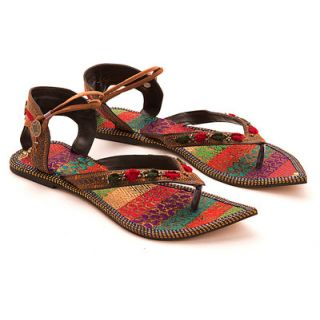 Pair Of Multicolored Women Flats