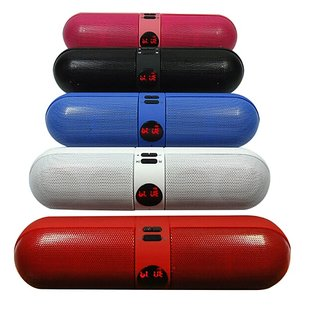 Portable-Wireless-NFC-Pill-Bluetooth-Stereo-Speaker-(Black)