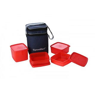 Signoraware Director Special Lunch Box - Red (Big-2050ml)