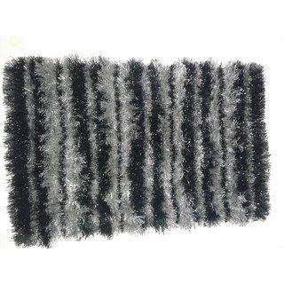 Akash Ganga BlackGrey Beautiful Floor Mat (M21)