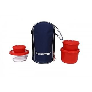 Signoraware Celebrity Lunch Box -Red (1000ml)