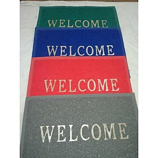 Akash Ganga Combo of 4 Welcome Door Mats (M27)