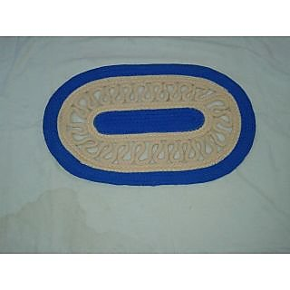 Akash Ganga BlueCream Beautiful Door Mat (M34)