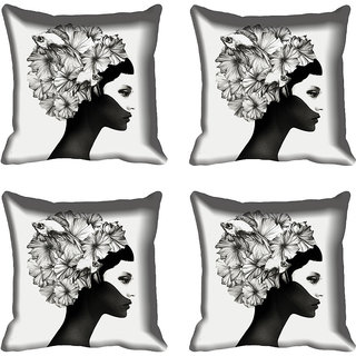 meSleep Abstract Face Digitally Printed Cushion Cover (16x16)