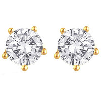 Enzy Gold Plated American Diamond Gold Studs For Women