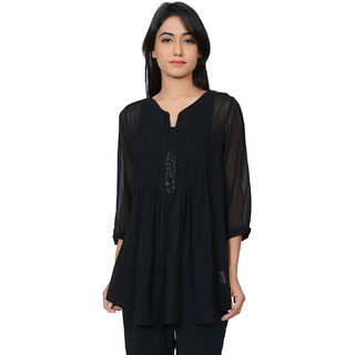 Juniper Poly Georgette Solid Tunic