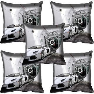 meSleep Car Digitally Printed Cushion Cover (16x16)