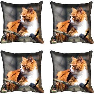 meSleep Cat Digitally Printed Cushion Cover (16x16)