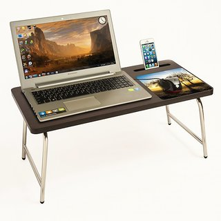 Riona Bed Laptop Table with Mobile Stand  Mousepad - RioDesk Ace(Wenge Sunrise)