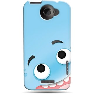 Snooky Back Cover Cases For Htc One X+ Blue