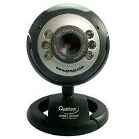 Quantum QHM495LM USB 2.0 PC Web Camera (With 6 Lights  Microphone)