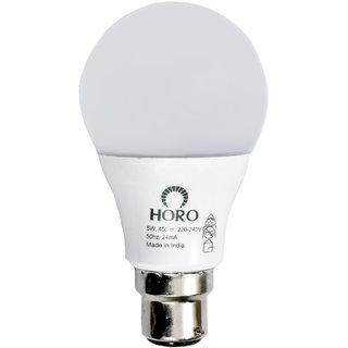 HORO 5W B22 LED Bulb (White, Pack Of 8) Image