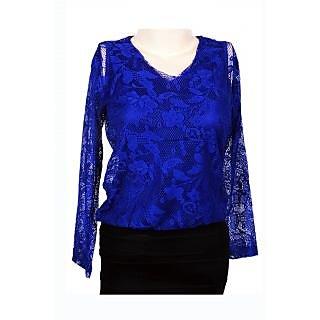 Bag My Attitude Blue Lace Skirt Bodycon dress