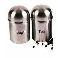 Tea & Sugar Stainless Steel Canister Set