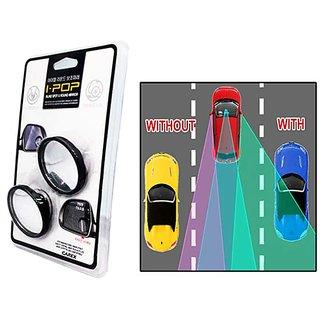 I Pop- Flexible Car Blind Spot Convex Side Rear View Mirror For Honda Amaze