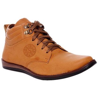 lucky  Brown Ankle Length Shoes