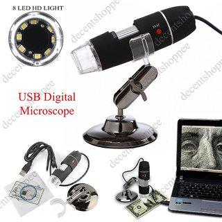 USB 8LED DIGITAL MICROSCOPE  50X-500X  2MP ENDOSCOPE MAGNIFIER VIDEO CAMERA