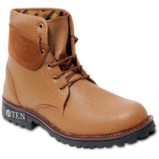 TEN Glamorous Tan Leather Boots