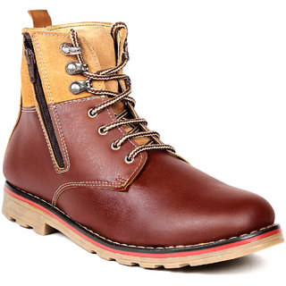 TEN Winsome Brown Leather Boots