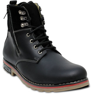 TEN Voguish Black Leather Boots