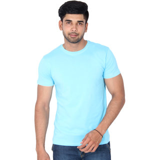 nod'rMen's Sky Blue Round Neck T-shirt