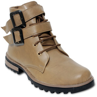 TEN Elite Beige Leather Boots