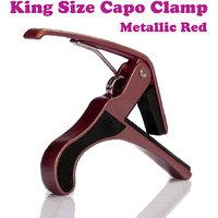 Gadget Hero's Electric & Acoustic Guitar Quick Change Capo Tirgger Clamp Key