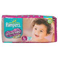 PAMPERS ACTIVE BABY SUPER JUMBO L 78S