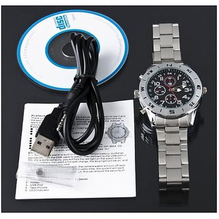 Original 4GB Camera Wrist Watch DVR (Steel Belt ) - at Lowest Price in Shop Clues