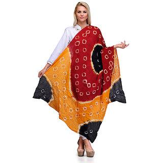Saffron Craft Cotton Bandej Dupatta