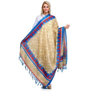 Saffron Craft Bhagalpuri Silk Dupatta