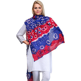 Saffron Craft Cotton Bandej Dupatta