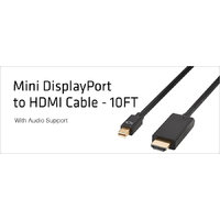 Mini Display Thunderbolt Port To Hdmi Cable For Mac,Air,Pro Macbook 10ft 3m