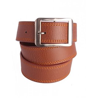 Aleron Men Brown Genuine Leather Belt