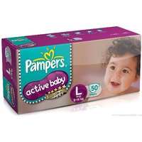 Pampers Active Baby Regular Diaper Large - 50 Pcs Pack of 2