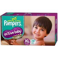 Pampers Active Baby Regular Diaper XL - 56 Pcs Pack of 2