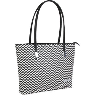 Lino Perros Radiant Leatherite Blackwhite Handbag