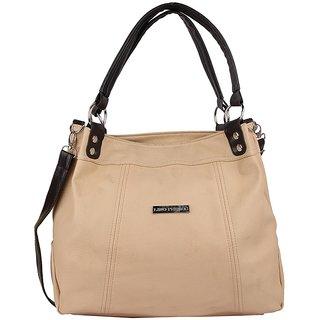 Lino Perros Snazzy Leatherite Beige Handbag
