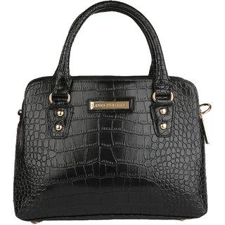 Lino Perros Auspicious Leatherite Black Handbag